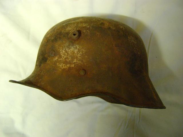 coque de casque WWI reconditionné WWII. Dsc00210