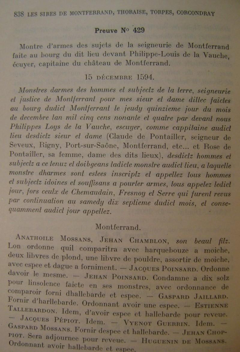 Beau livre sur l'histoire des 13°, 14° et 15° siècles en Franche Comté. Dsc05219