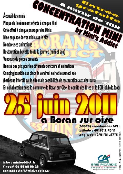 Boran's Addict 2, le 25 juin 2011   Affich10