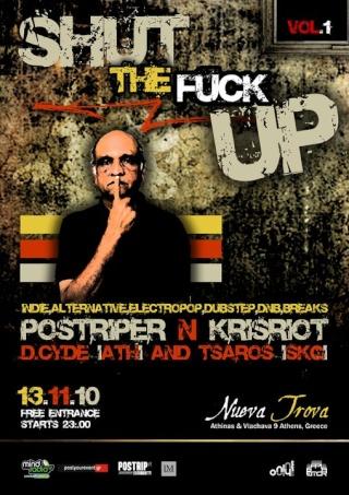 Shut The Fuck Up PARTY Vol1 // 13.11.10 // Nueva Trova Athens Stfu10
