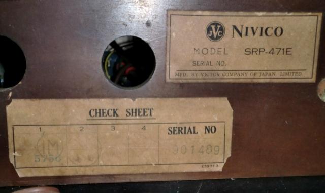 Vintage JVC Nivico Turntable receiver (Used) Nivico24