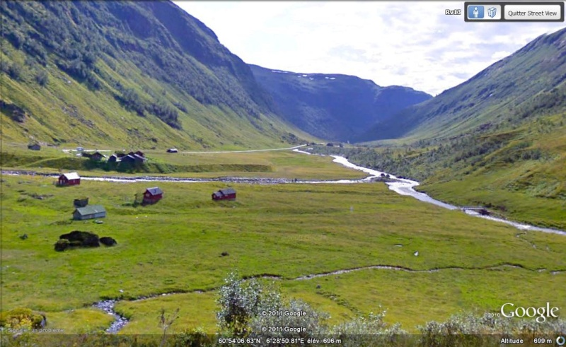 Street View : montagnes de Vikafjell, Norvège Montag10