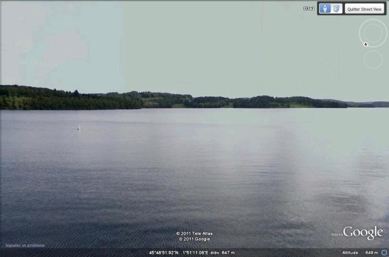 STREET VIEW : Lac de Vassivière (Haute-Vienne et Creuse) W10