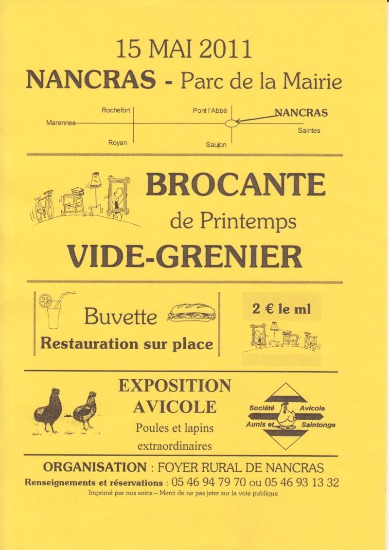 Brocante et manifestation avicole le 15 mai 2011 à Nancras Brocan10