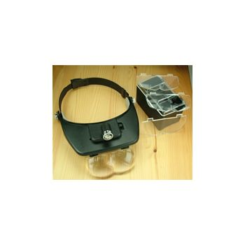 Head worn magnifier glass LED light   217910
