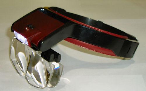 Head worn magnifier glass LED light   B9zemg10