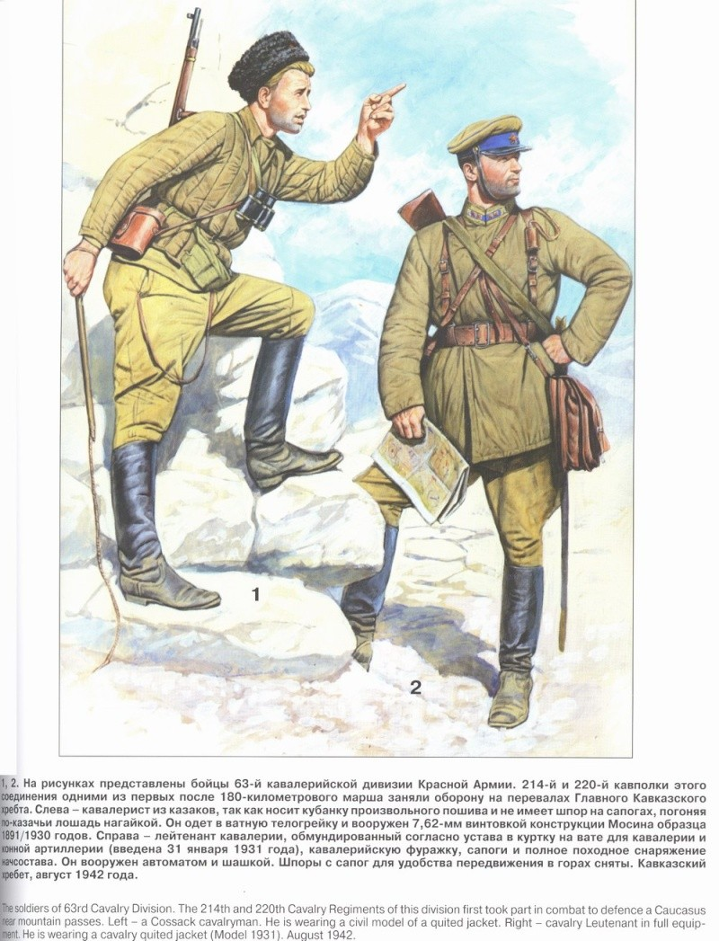 Uniformes del Ejército Rojo 1710