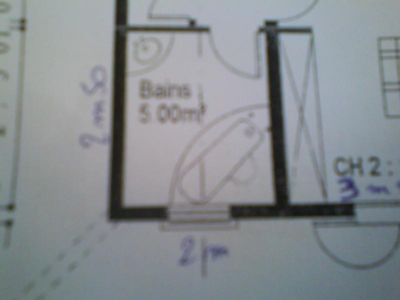 Rénovation salle de bains Melba..... le plan c ok mais Help P8 pour carrelages Dsc01436