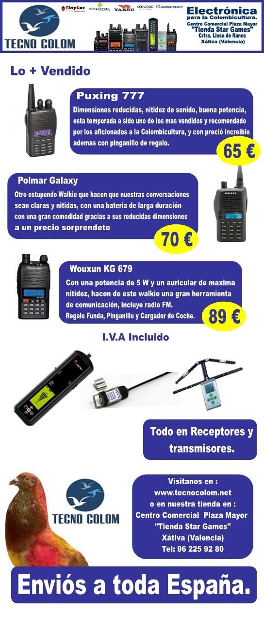 Walkies, Receptores, Transmisores lo + vendido de Tecno Colom ... Follet14