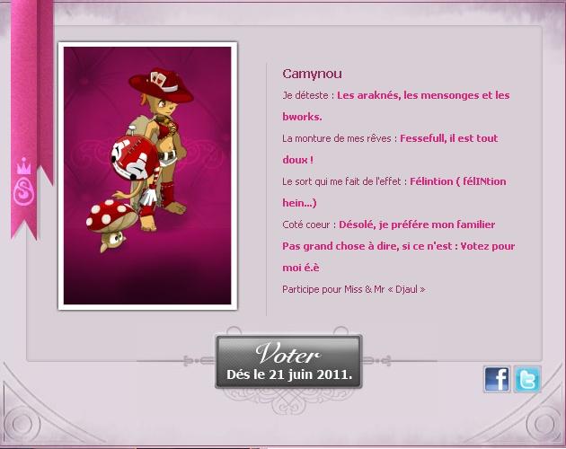 [EVENT ANKAMA] Faites-vous connaître pour le concours de Miss&Mister Amakna ! Camyno10
