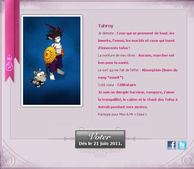 [EVENT ANKAMA] Faites-vous connaître pour le concours de Miss&Mister Amakna ! Tahroy23