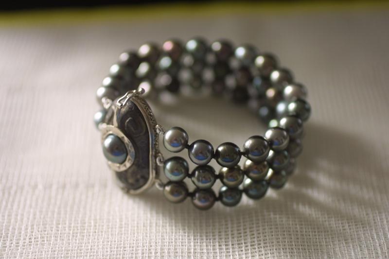 Bracelet perles de Tahiti  Brcfer21