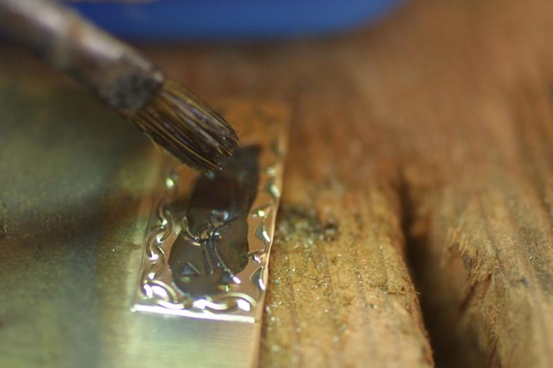 Noircir le laiton ou cuivre Patine13