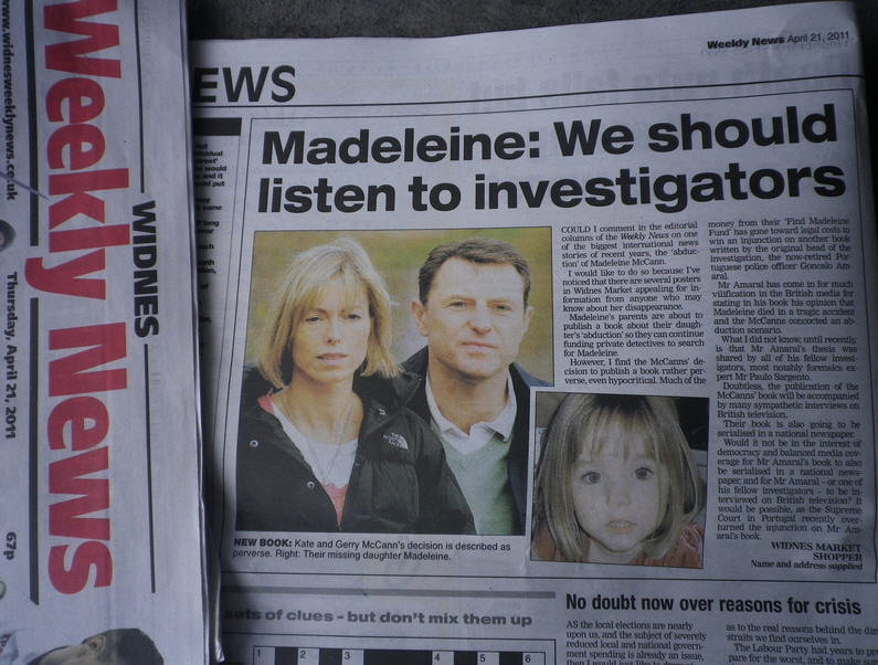 Widnes Weekly News: Madeleine: We should listen to investigators Pic110