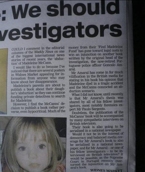 Widnes Weekly News: Madeleine: We should listen to investigators Pic310