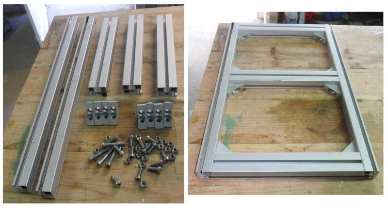 Fabrication d'une scierie portative Cadre10
