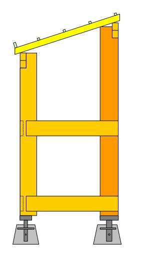 Fabrication d'un abris bois Cote10