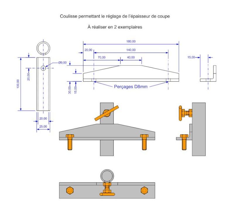 Fabrication d'une scierie portative Coulis10
