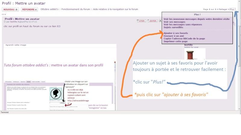 TUTO: gestion de vos posts favoris dans votre profil du forum Ajoute10
