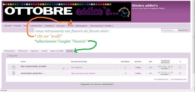 TUTO: gestion de vos posts favoris dans votre profil du forum Ajoute11