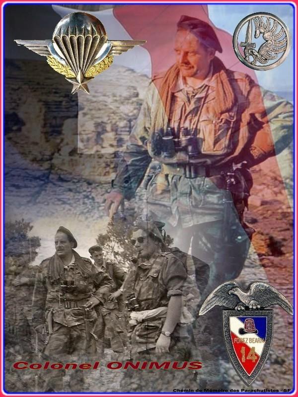 ONIMUS Joseph - colonel, grand capitaine du  14 R C P   en Algérie vient de décéder Cpte_o10