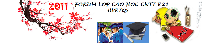 Forum của lớp Cao học Công nghệ Thông tin K21