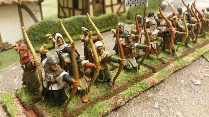 VENDS Archers médiévaux / bretonniens peints 28mm 20180827