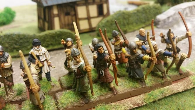 VENDS Archers médiévaux / bretonniens peints 28mm 20180828