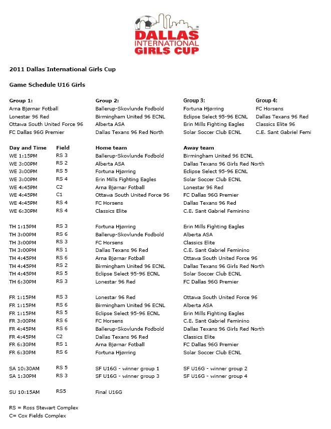Dallas International Girls Cup Cup10