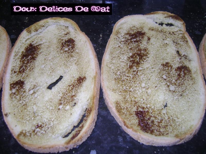 Tartine (bruschetta ) au surimi ,épinard : Dsc02913