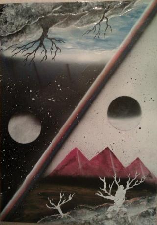Le retour de loulou!!! et toutes mes peintures actuelles et à venir :) Parall15