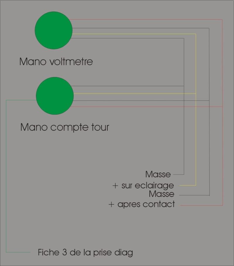 Install manomètre compte tours et voltage Mano_s10