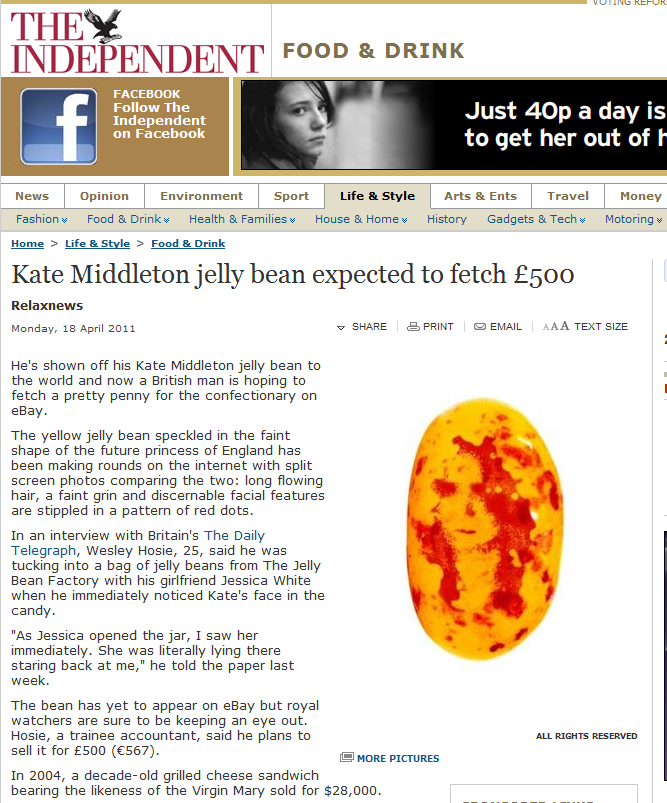 Kate Middleton jelly bean expected to fetch £500 (just LOVE the URL :-)) A_kate10