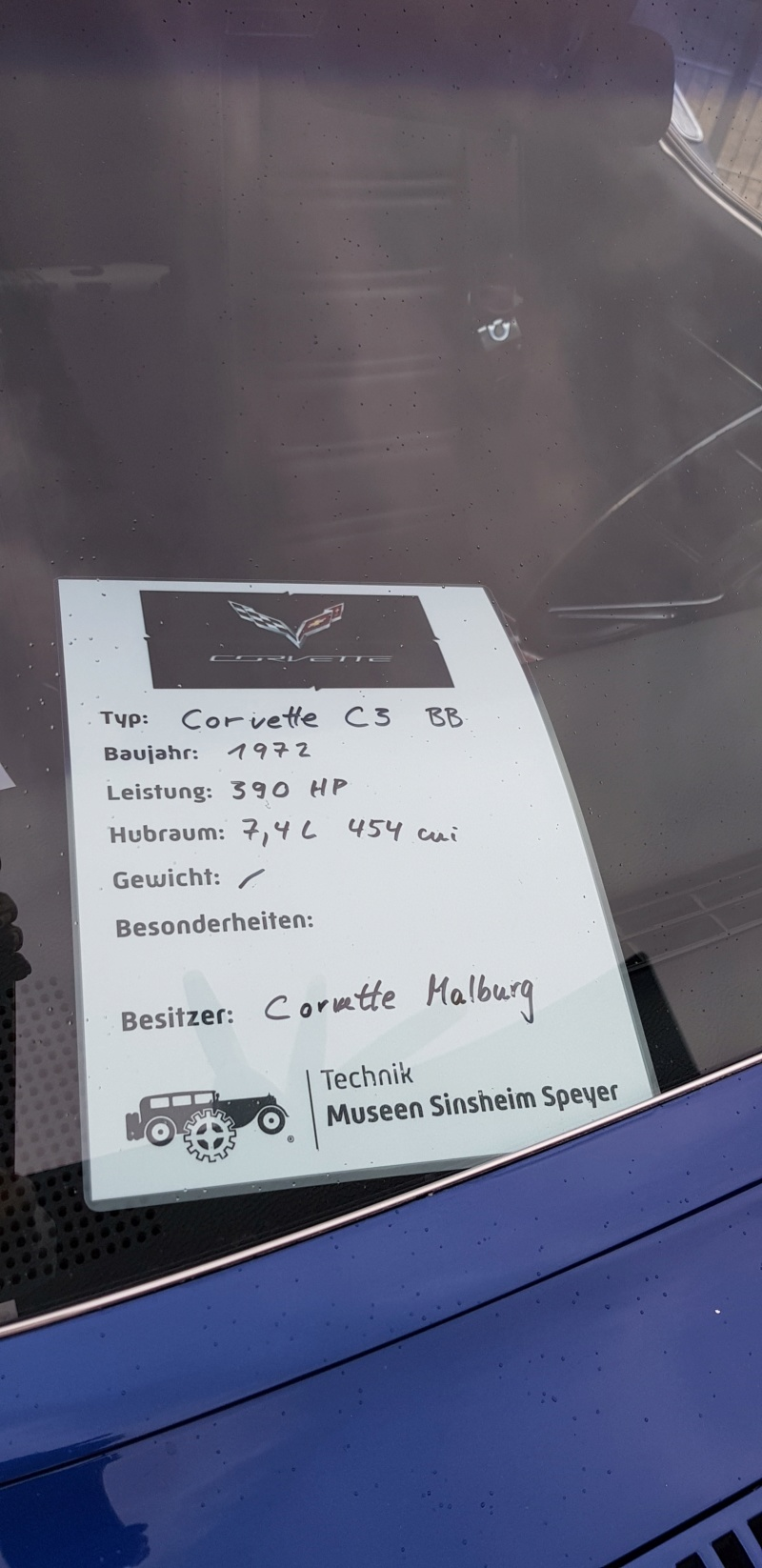 Corvette & Friends 14.7.2019 im Technikmuseum Speyer 20191047