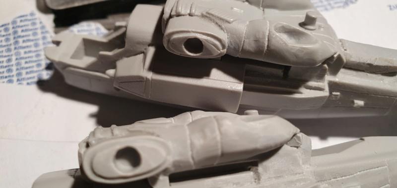"""Zwei AT-99 """"Skorpion"""" Gunships aus Avatar, 1:72 von Fantastic Plastic 20210509"""