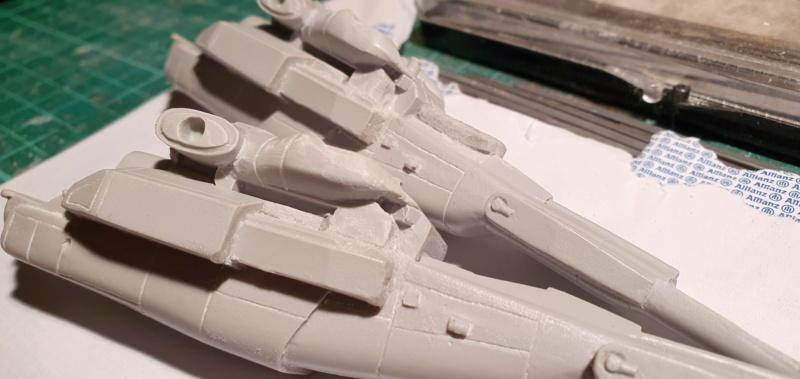 """Zwei AT-99 """"Skorpion"""" Gunships aus Avatar, 1:72 von Fantastic Plastic 20210512"""