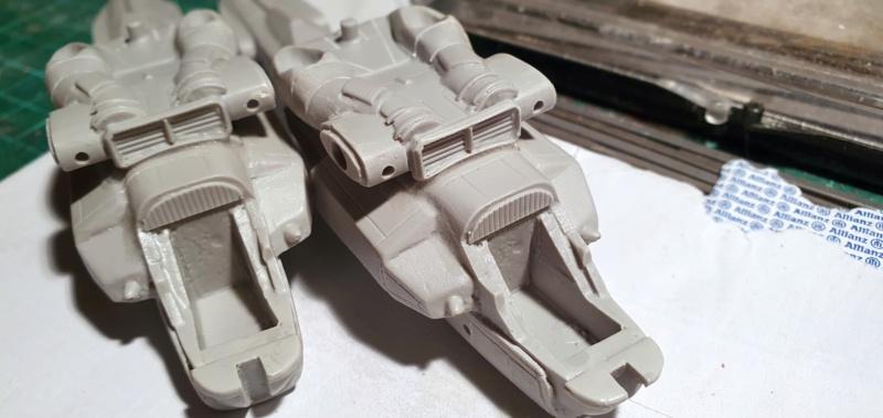 """Zwei AT-99 """"Skorpion"""" Gunships aus Avatar, 1:72 von Fantastic Plastic 20210513"""