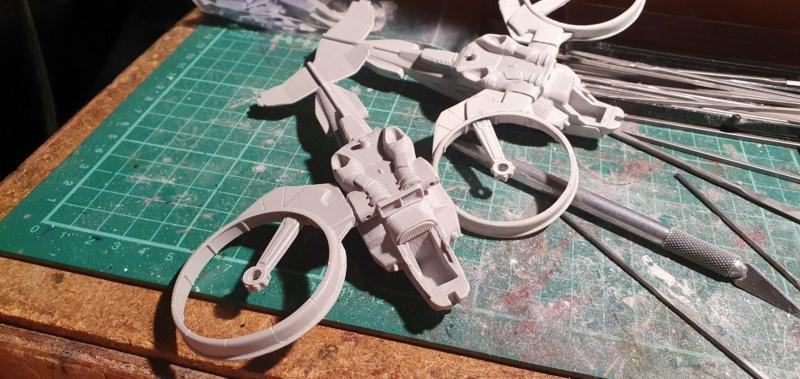 """Zwei AT-99 """"Skorpion"""" Gunships aus Avatar, 1:72 von Fantastic Plastic 20210529"""