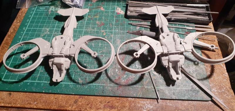 """Zwei AT-99 """"Skorpion"""" Gunships aus Avatar, 1:72 von Fantastic Plastic 20210530"""