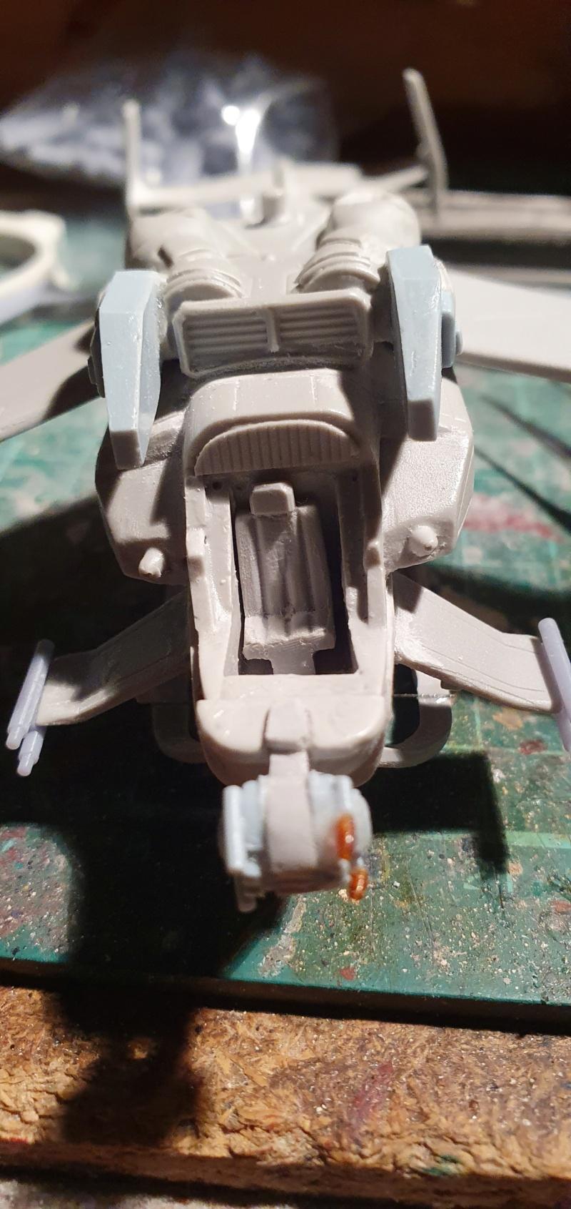 """Zwei AT-99 """"Skorpion"""" Gunships aus Avatar, 1:72 von Fantastic Plastic 20210604"""