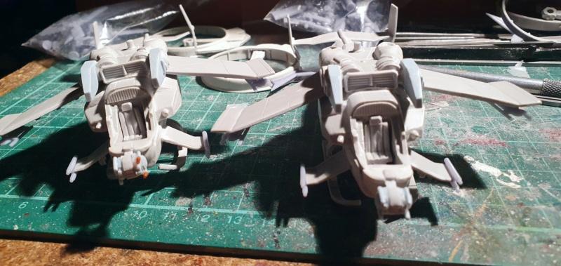 """Zwei AT-99 """"Skorpion"""" Gunships aus Avatar, 1:72 von Fantastic Plastic 20210605"""