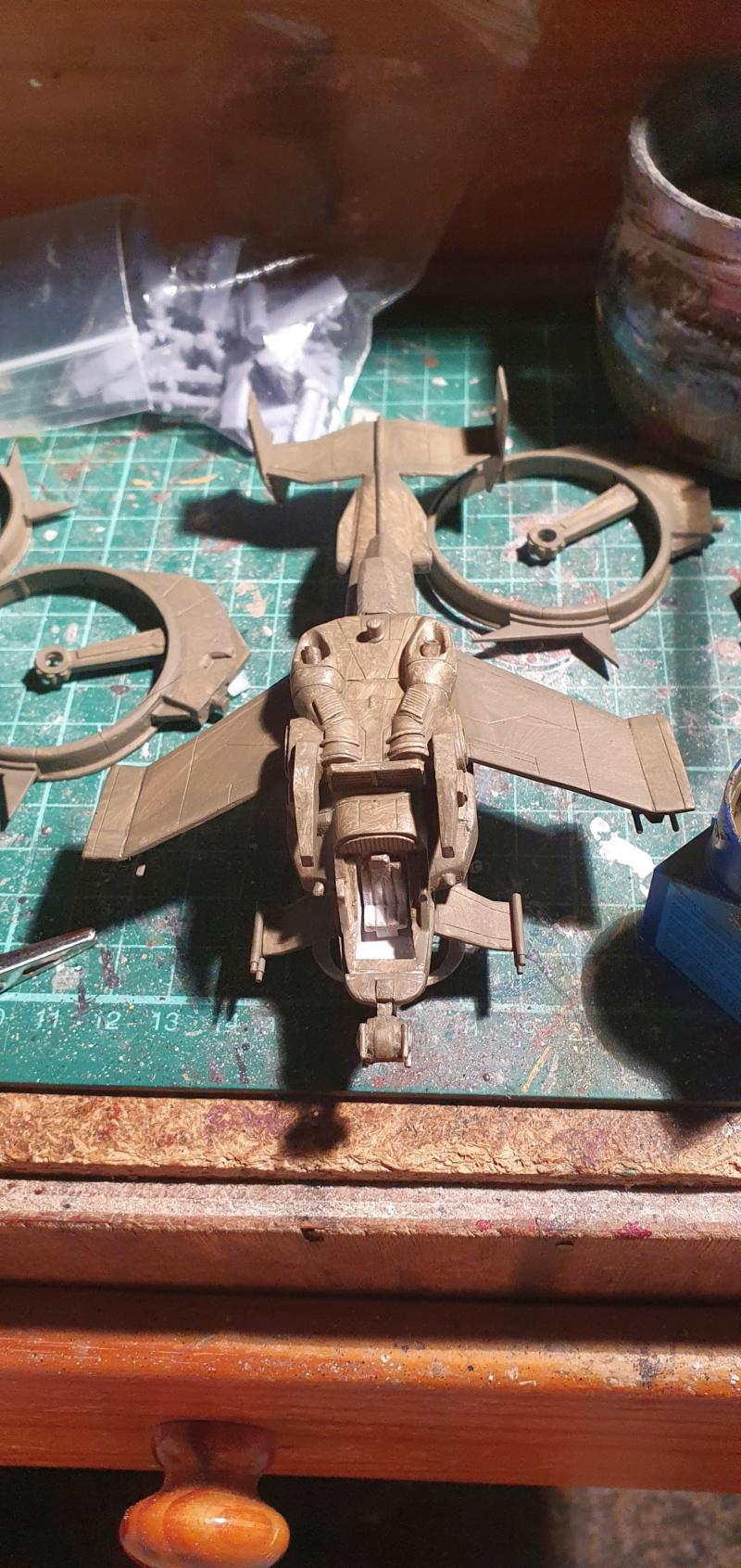 """Zwei AT-99 """"Skorpion"""" Gunships aus Avatar, 1:72 von Fantastic Plastic 20210608"""