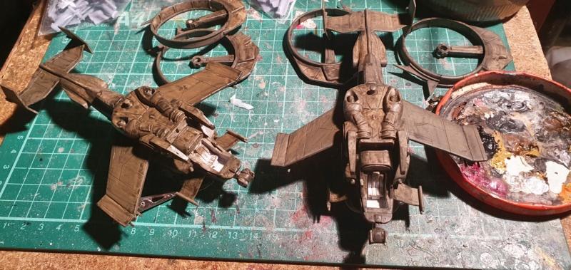 """Zwei AT-99 """"Skorpion"""" Gunships aus Avatar, 1:72 von Fantastic Plastic 20210611"""