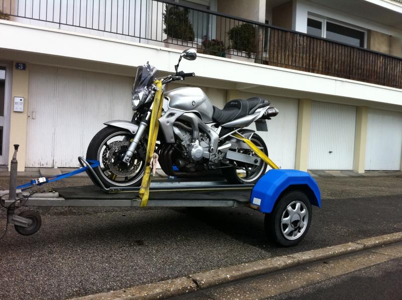 """Addaptation remorque """"normale"""" en porte moto Remorq10"""