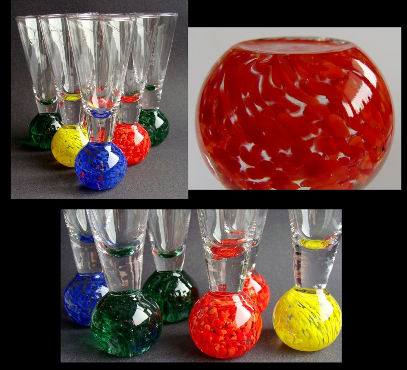 Set of six small vases, Murano? 510