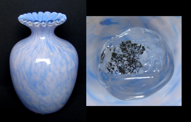 Small pale blue vase with unreadable mark Sbv10