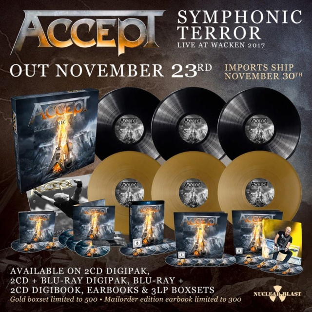 "ACCEPT ""Symphonic Terror - Live at Wacken 2017"" (NOV 2018) Ass210"