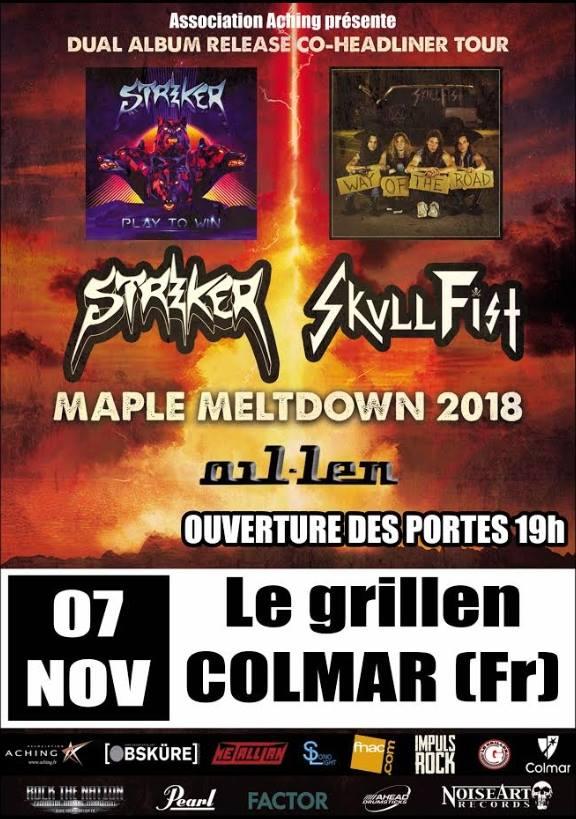 SKULL  FIST Way Of The Road (2018) Heavy, Speed Metal CANADA Skull10