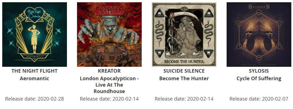 Prochaines sorties d'albums. Sortie10