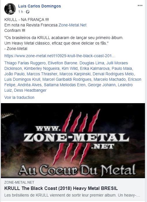KRULL The Black Coast (2018) Heavy Metal BRESIL Zmkrul10